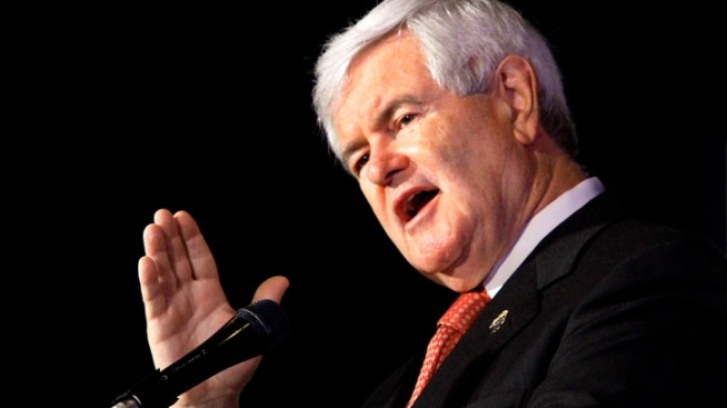 Gingrich Speaks to Supporters in Frederick