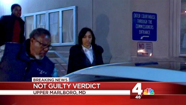 News4's Tracee Wilkins has the latest on the murder trial that resulted in a not guilty verdict for Alexis Simpson, accused of murdering Dominique Frazier in their Bowie State dorm.