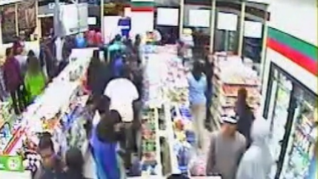 Montgomery County is dealing with another flash mob robbery and it was all caught on tape.  Dozens of kids raided a 7-Eleven in Silver Spring over the weekend.  Police are searching for all the teens that were involved.