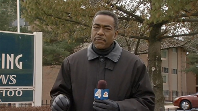 Derrick Ward reports on an apartment shooting in Prince George's County that ended with four people in the hospital and a police chase with the suspect caught.