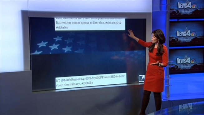 News4's Angie Goff takes a look at how the second Presidential debate was covered on social media.