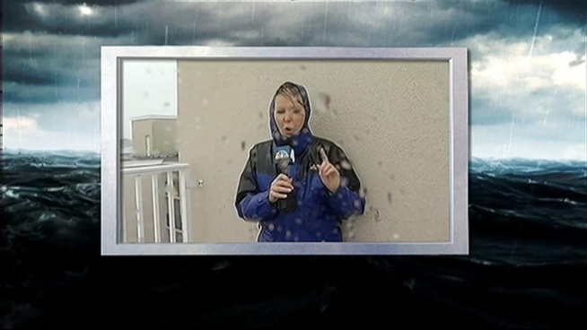 Take a look at some of the highlights of Wendy Rieger's unforgettable coverage of Sandy from the Delaware shore.