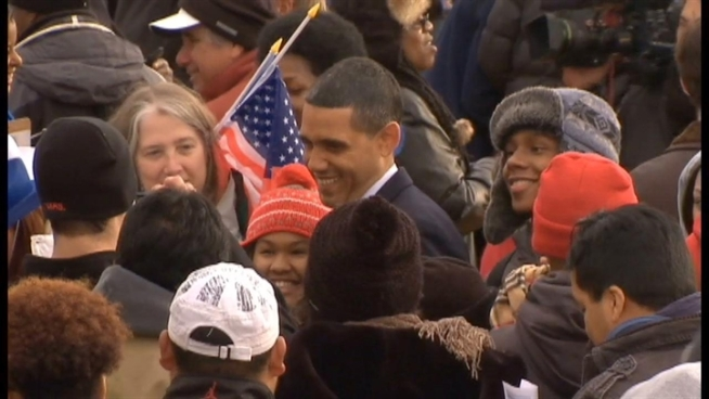 A man who makes a lot of money as a President Barack Obama impersonator was in D.C. Monday for the real Commander in Chief's inauguration.