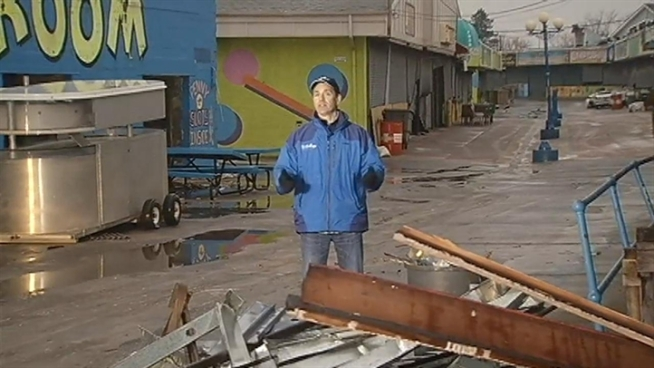 After four months, News4's Jim Rosenfield returns to areas ravaged by Sandy. He talks to people who lost their homes or businesses as they try to re-build.
