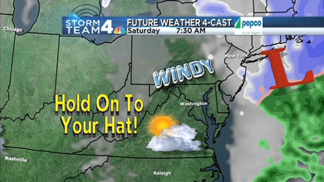 Watch Chuck Bell's daytime forecast for Saturday, February 9, 2013.