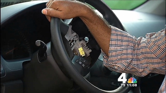 News4's Jackie Bensen spoke with a man whose car door was stolen overnight by thieves -- and whose neighbors were also missing several car parts when they woke up Thursday morning.
