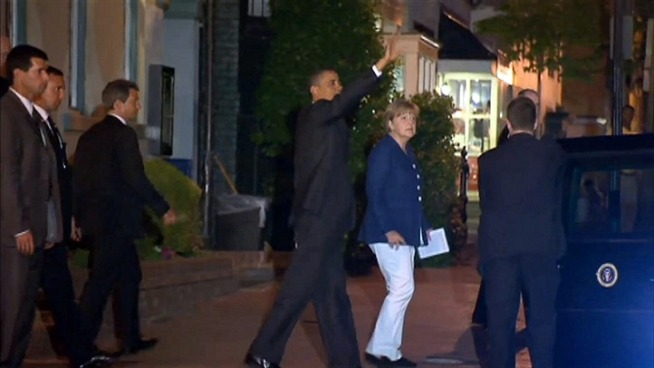 President Barack Obama and German Chancellor Angela Merkel swung by 1789 Restaurant in Georgetown.