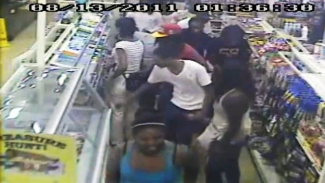 Darcy Spencer reports on a convenience store robbery disguised as a flash mob in Germantown.