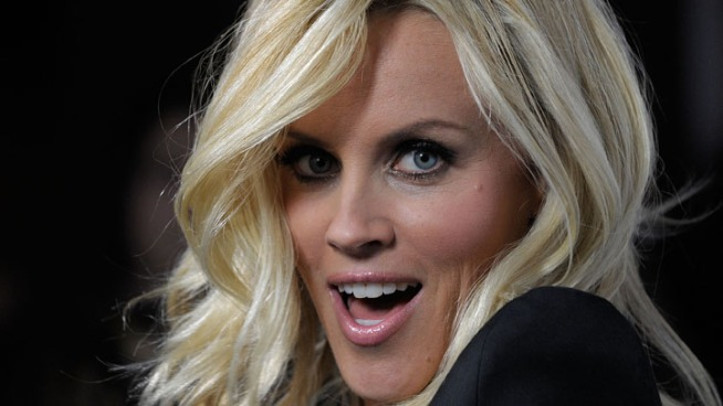 Jenny McCarthy Gives Cop a Midnight Kiss