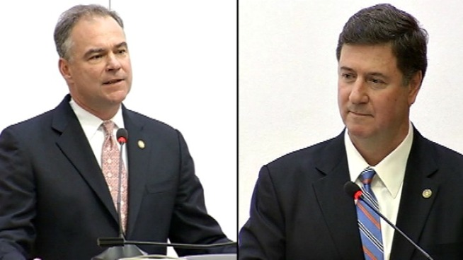 Kaine, Allen Square Off In Va. Senate Debate