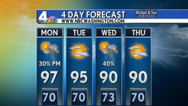 Get the latest forecast from NBC Washington meteorologist Tom Kierein.