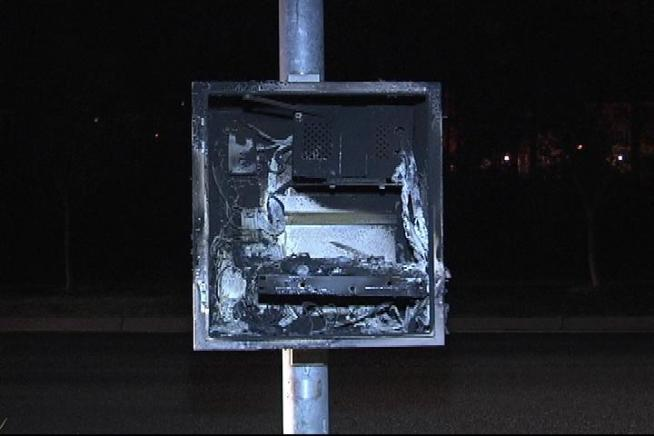 Speed Camera Set On Fire Overnight