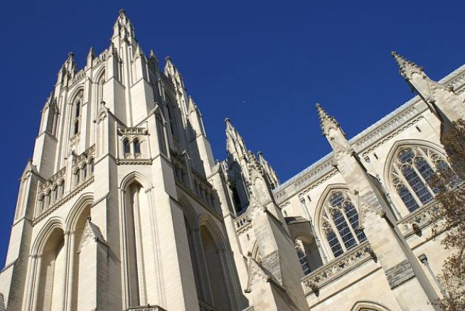 National Cathedral Adds Parks, Theresa Carvings