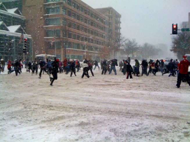 Lack of Snow Means No 'Official Dupont Circle Snowball Fight'