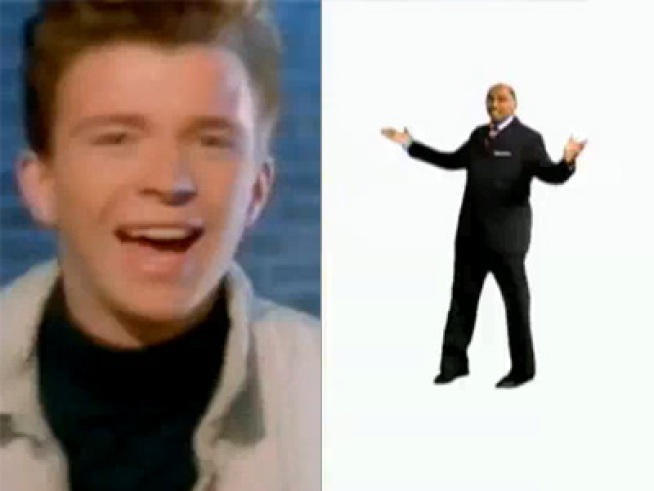 Michael Steele Gets Rickrolled