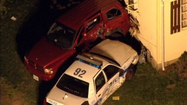 Police Car Hits Manassas House