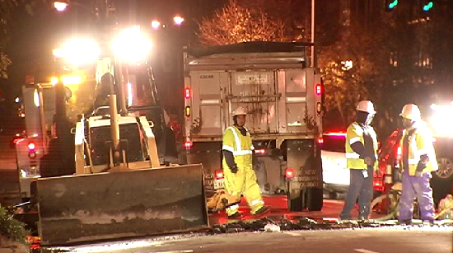 Crews Repair Water Main in Alexandria