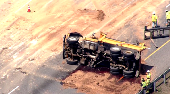 Capital Beltway's Inner Loop Reopens at Arena Drive After Fuel Spill