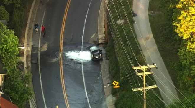 Water Main Break Shuts Down Main Street In Ellicott City