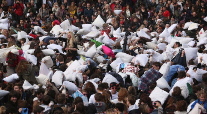 Celebrate International Pillow Fight Day