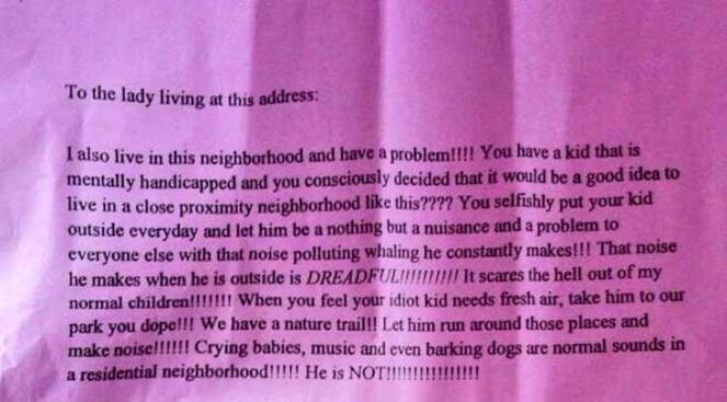 Family in Shock After Neighbor's Hate Mail Targets Autistic Son: Report