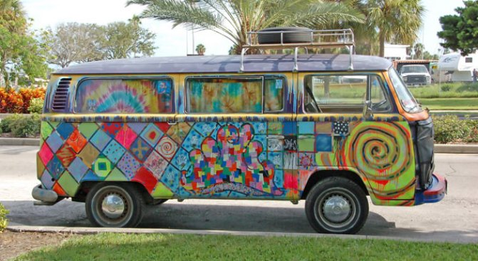 Take a Ride on the Hippie Bus