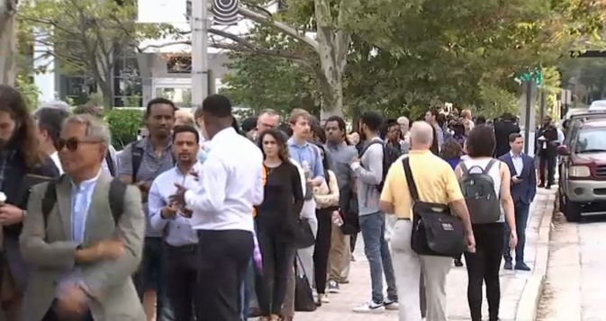 Amazon Career Day Attracts Long Line of Job Seekers