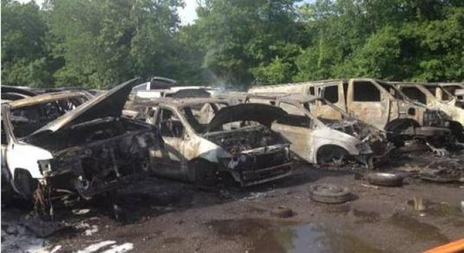 20 Cars Burned in MD Junkyard Fire
