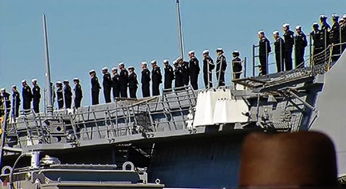 On Friday, 9/11 first responders were in Norfolk for the arrival of the ship that will be commissioned the USS Arlington.