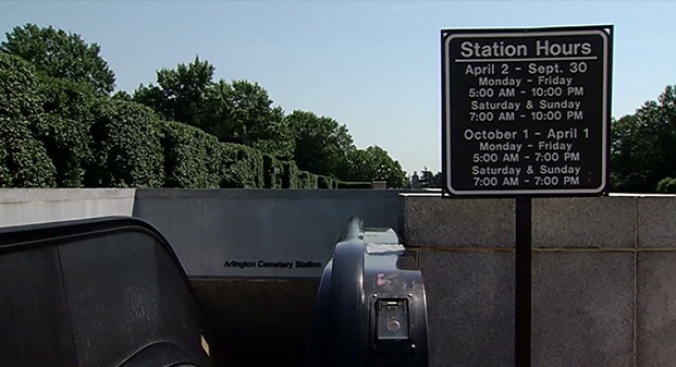 Disorderly Passenger Pepper Sprayed at Arlington Cemetery Metro