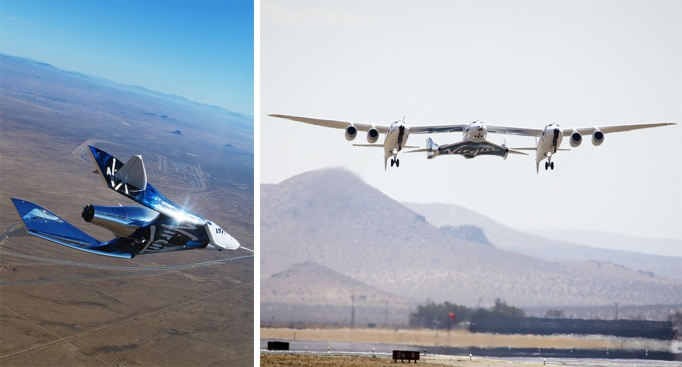 [la gallery] Photos: Space Ship Unity Takes Flight Over the Mojave Desert