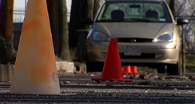 Teachers: Neighbors' Orange Cones Could Pose Danger
