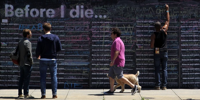 'Before I Die': An Artistic Bucket List