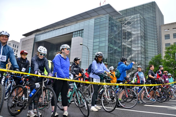 Inaugural DC Bike Ride Pushes Through Amid Dreary Skies