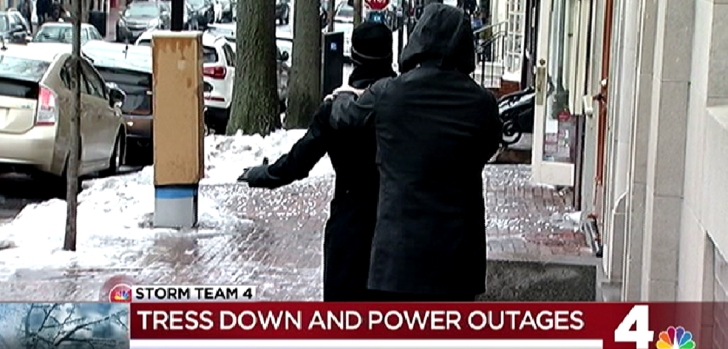 Slick Sidewalks, Power Outages Due to Ice