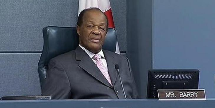 Committee Recommends Censure for Marion Barry