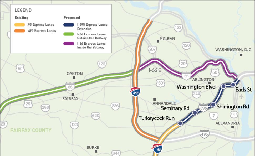 VDOT Wants to Expand HOT Lanes Toward DC