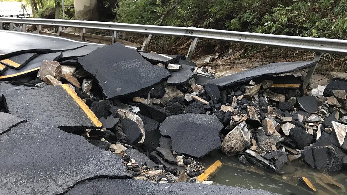 Part of Glebe Road in Virginia Closed Thursday Morning