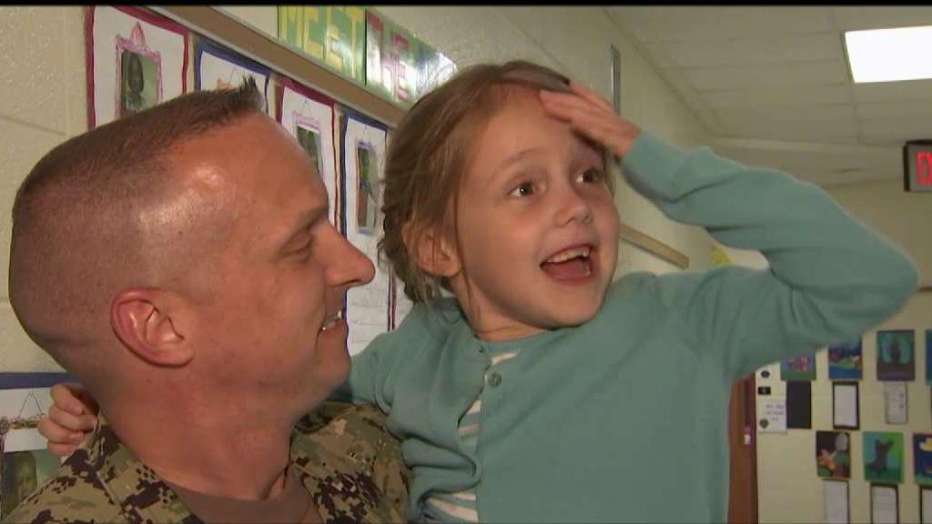 4bd7bb606f ... 2019 Military Dad Surprises 6-Year-Old Daughter at School NBC4  Washington - 21:54 PM ET June 11, ...