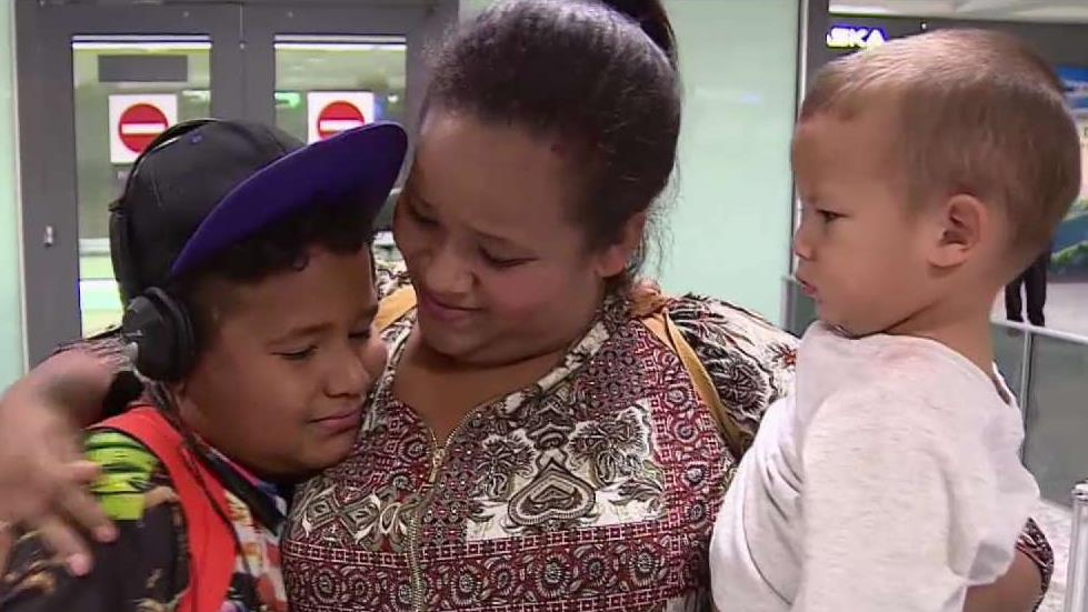Mother Reunited With Son at Dulles After Year Apart