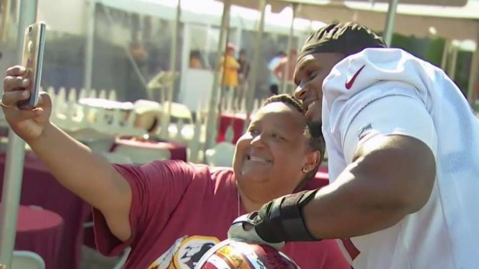 Superfan Brings Energy to Redskins Training Camp